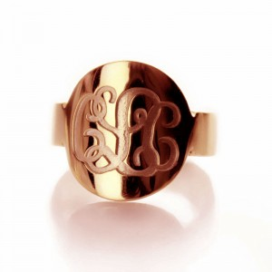 Personalised Engraved Monogram Itnitial Ring - Custom Made By Yaffie™