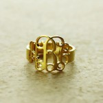 Personalised Personalised Monogram Ring - Custom Made By Yaffie™