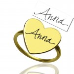 Personalised Heart Signet Ring With Your Signature - Custom Made By Yaffie™