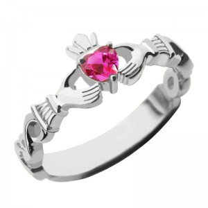 Personalised Ladies Claddagh Rings With Birthstone Name - Custom Made By Yaffie™