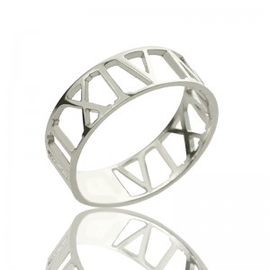 Personalised Custom Roman Numerals Ring - Custom Made By Yaffie™