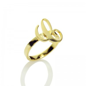 Personalised Carrie Initial Letter Ring - Custom Made By Yaffie™