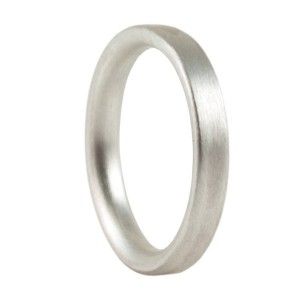 Personalised 3mm Brushed Matte Flat Court Wedding Ring - Custom Made By Yaffie™