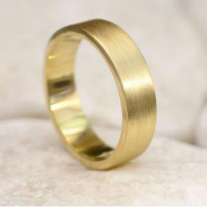 Personalised Mens Wedding Ring, Spun Silk Finish - Custom Made By Yaffie™