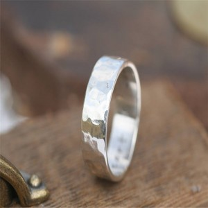 Personalised Hammered Personalised Ring - Custom Made By Yaffie™