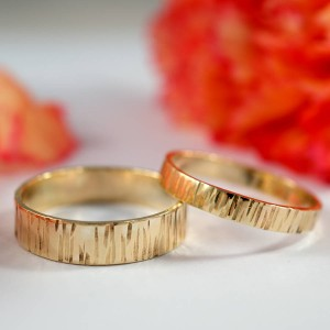 Personalised Bark Effect Rings - Custom Made By Yaffie™