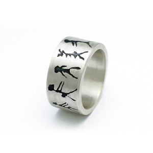 Personalised Capivara Cave Art Band Ring - Custom Made By Yaffie™