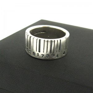 Personalised Extra Wide Barcode Ring - Custom Made By Yaffie™