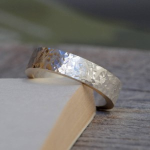 Personalised Textured Wedding Band In - Custom Made By Yaffie™
