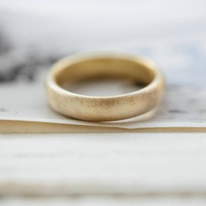 Personalised Gents Soft Pebble Wedding Ring - Custom Made By Yaffie™