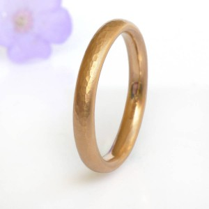 Personalised Hammered Comfort Fit Wedding Ring, - Custom Made By Yaffie™
