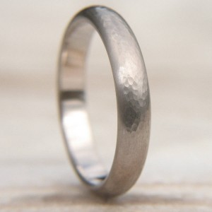 Personalised Hammered Wedding Ring - Custom Made By Yaffie™