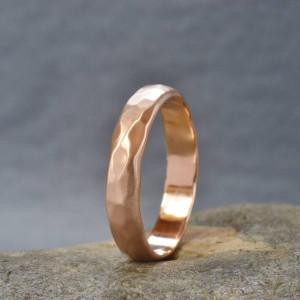Personalised Handmade Hammered Wedding Ring - Custom Made By Yaffie™