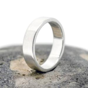 Personalised Handmade Satin Rectangular Wedding Ring - Custom Made By Yaffie™