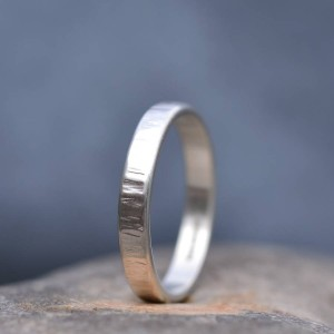 Personalised Handmade Rippled Wedding Ring - Custom Made By Yaffie™