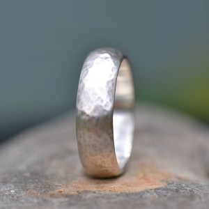 Personalised Handmade Wedding Ring Lightly Hammered Finish - Custom Made By Yaffie™