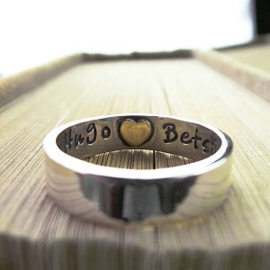 Personalised Heart Imprint Personalised Ring - Custom Made By Yaffie™