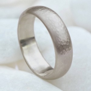 Personalised Mens 6mm Hammered Ring - Custom Made By Yaffie™