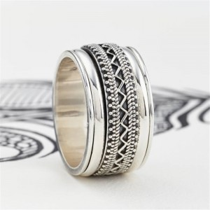 Personalised Mens Chunky Tribal Spinning Ring - Custom Made By Yaffie™