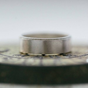 Personalised Mens Decorated Wedding Ring - Custom Made By Yaffie™