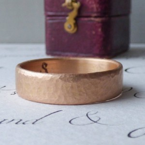 Personalised Mars Mens Fairtrade Wedding Ring - Custom Made By Yaffie™