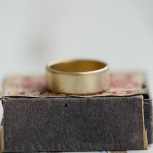 Personalised Mens Wide Brushed Pillow Wedding Ring - Custom Made By Yaffie™