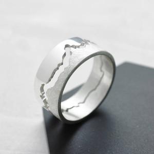 Personalised Mens Coastline Map Ring - Custom Made By Yaffie™