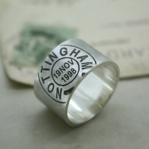 Personalised Mens Personalised Place And Date Ring - Custom Made By Yaffie™
