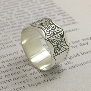 Personalised Mens Victorian Style Ring - Custom Made By Yaffie™