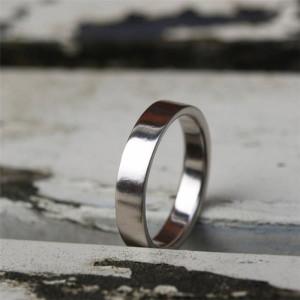 Personalised Flat Wedding Band - Custom Made By Yaffie™