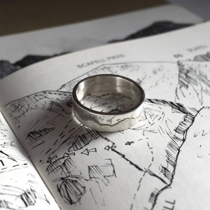 Personalised Mountain Landscape Skyline Ring - Custom Made By Yaffie™