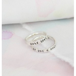 Personalised Script Ring For Couples - Custom Made By Yaffie™