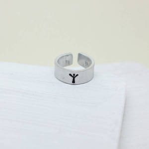Personalised Viking Rune Initial Talisman Ring - Custom Made By Yaffie™