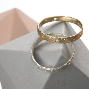 Personalised Precious Ring Set With Diamonds - Custom Made By Yaffie™