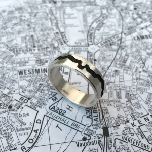 Personalised River Thames Cutout Ring - Custom Made By Yaffie™