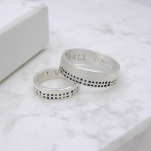Personalised Personalised Cubes His And Hers Rings - Custom Made By Yaffie™