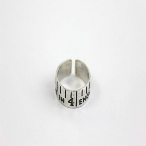Personalised Etched Vintage Style Tape Measure Ring - Custom Made By Yaffie™