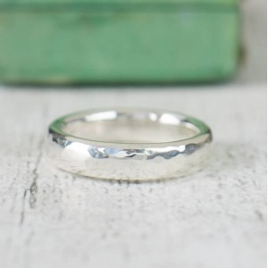 Personalised Unisex Hammered Ring - Custom Made By Yaffie™