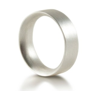 Personalised Mens Wedding Ring Comfort Fit Matt - Custom Made By Yaffie™